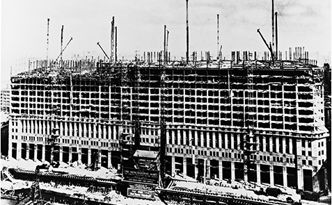 The Merchadise Mart building under contruction in 1929